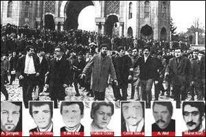16 Mart günü öğle saatlerinde İstanbul Üniversitesi'nden çıkan kalabalık bir solcu öğrenci grubunun üzerine bomba atıldı, 7 öğrenci öldü, 31'i ağır olmak üzere 100'den fazla kişi yaralandı Ölen öğrencilerin adları şöyle: Cemil Sönmez, Baki Ekiz, Hatice Özen, Hamit Akıl, A Turan Ören, Murat Kurt, Abdullah Şimşek.Olay kamuoyunda büyük bir tepkiyle karşılandı Devrimci İşçi Sendikaları Konfederasyonu, DİSK, 20 Mart'ta