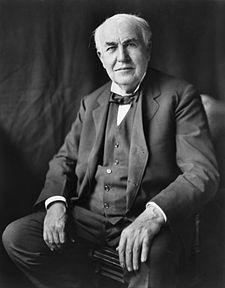 Başta ampul olmak üzere elektrikle çalışan bir çok aygıtın mucidi Thomas Edison. tarihte bugün