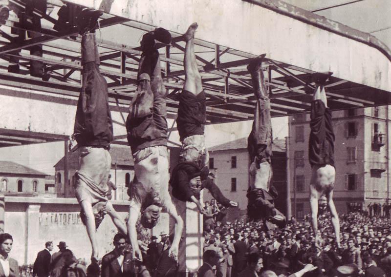 Benito Mussolini  ve sevgilisi öldürüldü