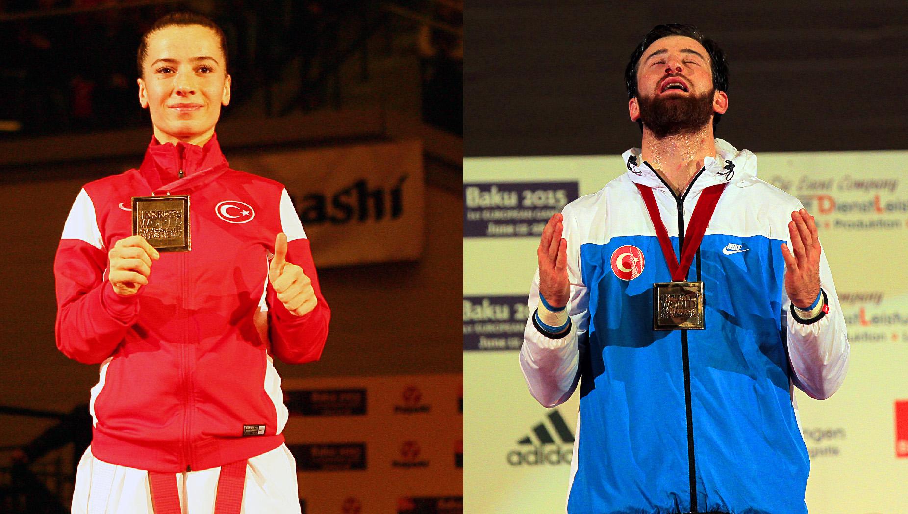 Dünya Karate Şampiyonası'nda, Enes Erkan ile Serap Özçelik altın madalya kazandı. tarihte bugün