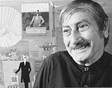 Türk mizahının önemli isimlerinden, 1922 doğumlu, karikatürist Turhan Selçuk. tarihte bugün