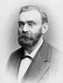 Dinamitin kaşifi İsveçli kimyacı Alfred Nobel. tarihte bugün