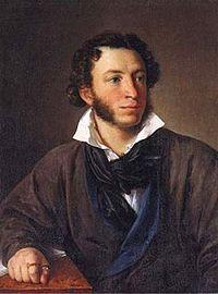 Rus yazar Aleksandr Sergeyeviç Puşkin. tarihte bugün