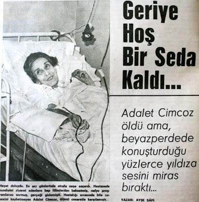 Adalet Cimcoz kimdir ölüm tarihi