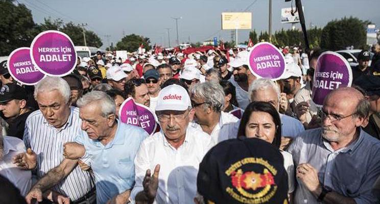Adalet Yürüyüşü On Dokuzuncu Gününde