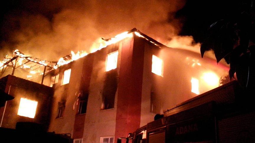 Adanada Kız öğrenci Yurdunda Yangın