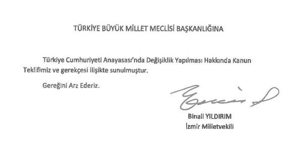 Türkiye yeni anayasa çalışmaları. 21 maddelik anayasa değişiklik teklifi 316 imzayla Meclis'e sunuldu. tarihte bugün