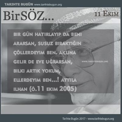Attila Ilhan Vefatı
