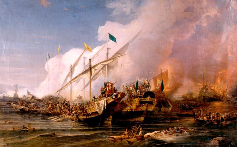 Barbaros Hayrettin komutasında Osmanlı donanması,  Venedik Amirali Andrea Doria'nın donanmasını Preveze'de yendi. tarihte bugün