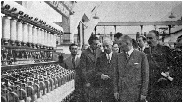 Bursa Merinos Fabrikası Atatürk tarafından işletmeye açıldı. tarihte bugün