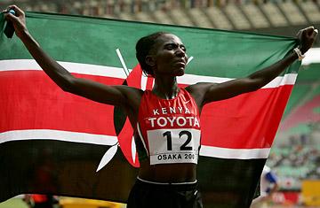 Catherine Ndereba, Kenyalı sporcu atlet tarihte bugün