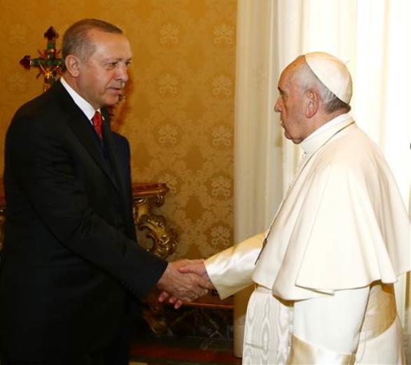 Cumhurbaşkanı Papayı Vatikanda Ziyaret Etti