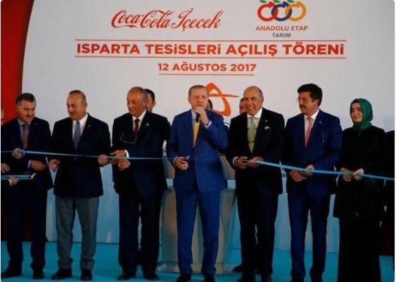 Cumhurbaşkanı Recep Tayyip Erdoğan Coca Cola - Meyve suyu açılışı