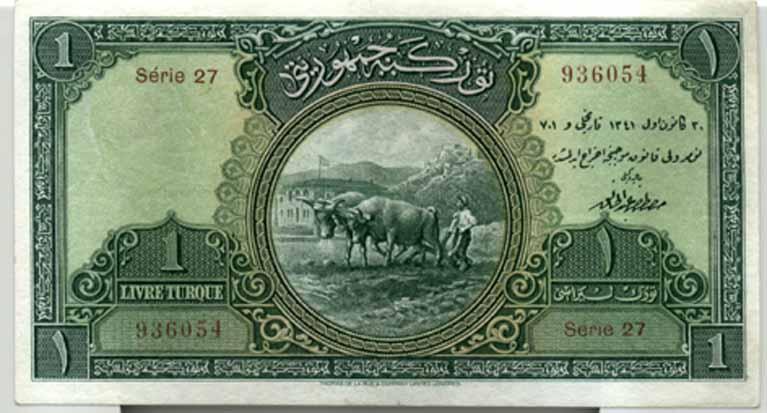 Cumhuriyet döneminin ilk kağıt paraları tedavüle çıkarıldı. 5, 10, 50, 100, 500 ve 1000 liralık olmak üzere 7 ayrı değerde çıkarılan banknotlar eski Türkçe ve Fransızca bastırıldı. tarihte bugün