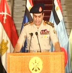 Mısır'da darbe. Mısır Genelkurmay Başkanı ve Savunma Bakanı Abdulfettah El Sisi yönetime el koyduklarını duyurdu.  tarihte bugün