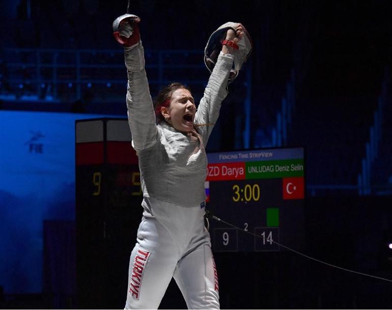 Deniz Selin Ünlüdağ Avrupa Eskrim Şampiyonu