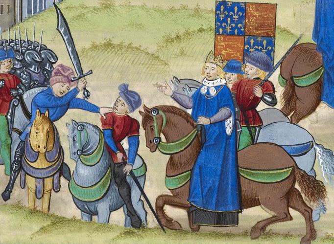 Wat Tyler, ingiliz devrimci lider (DY-1341) tarihte bugün