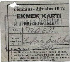 Türkiye'de ekmek karnesi uygulamasına başlandı. tarihte bugün