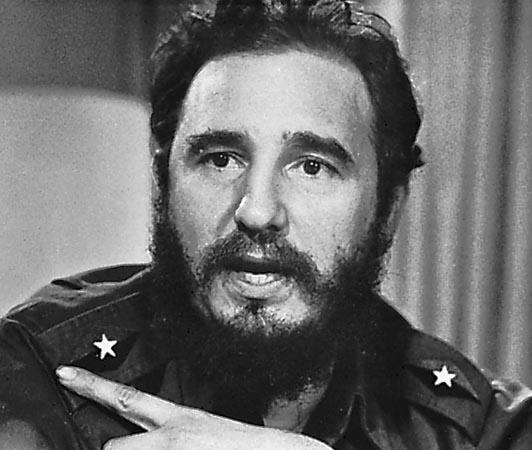 Küba lideri Fidel Castro. tarihte bugün