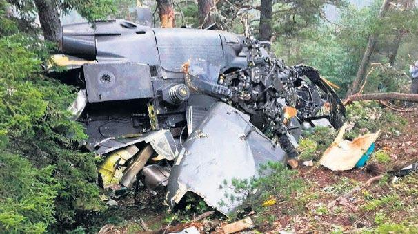 Giresunda Askeri Helikopter Düştü