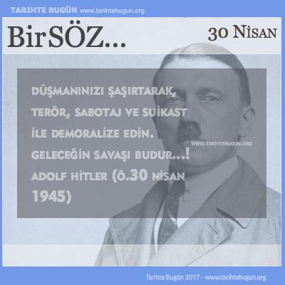 Günün Sözü Adolf Hitler Geleceğin savaşı