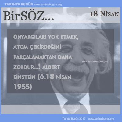 Günün Sözü Albert Einstein Önyargıları yok etmek