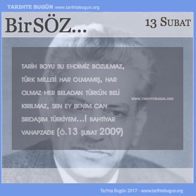 Günün Sözü Bahtiyar Vahapzade Türk milleti har olmamış