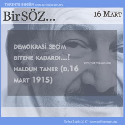 Günün Sözü Haldun Taner Demokrasi
