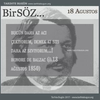 Günün Sözü Honore de Balzac daha az acı çekiyorum