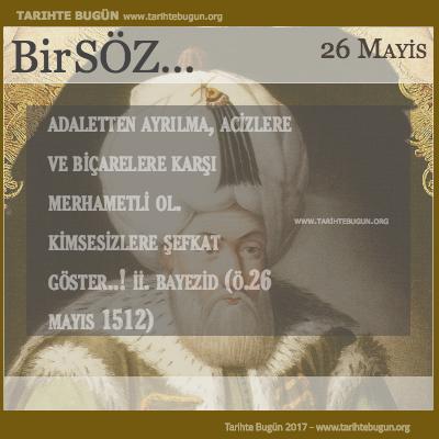 Günün Sözü II Bayezid Adaletten ayrılma