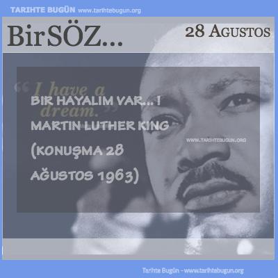 Günün Sözü Martin Luther King Bir hayalim var