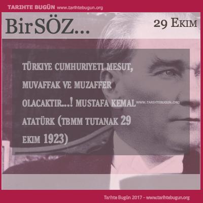 Günün Sözü Mustafa Kemal Atatürk Türkiye Cumhuriyeti