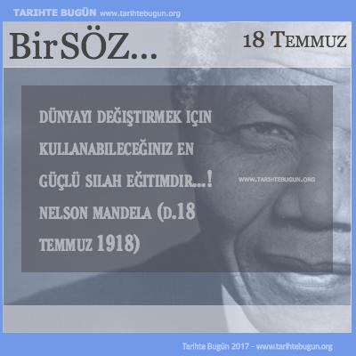 Günün Sözü Nelson Mandela Dünyayı değiştirmek