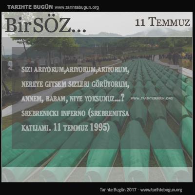 Günün Sözü Srebrenicki inferno Nereye gitsem sizleri görüyorum