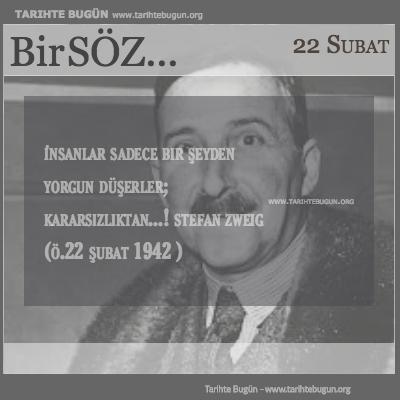 Günün Sözü Stefan Zweig İnsanlar sadece