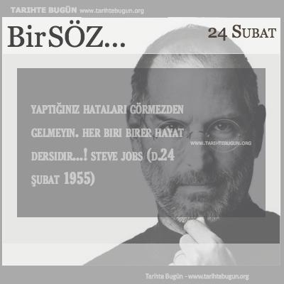 Günün Sözü Steve Jobs hataları görmezden gelmeyin