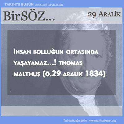 Günün Sözü Thomas Malthus İnsan