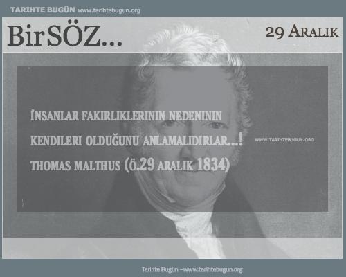 Günün Sözü Thomas Malthus insanlar