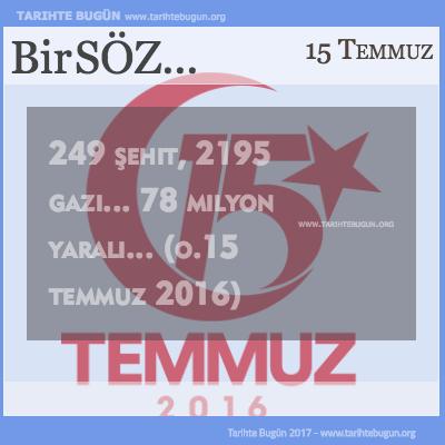 Günün Sözü Türk Milleti şehit gazi