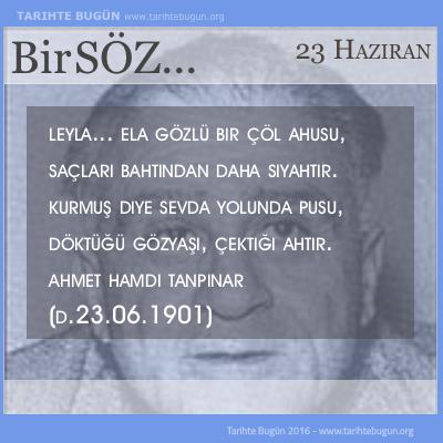 G�n�n S�z� Ahmet Hamdi Tanp�nar Leyla