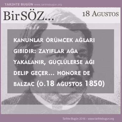 Honore De Balzac Hayatını Kaybetti
