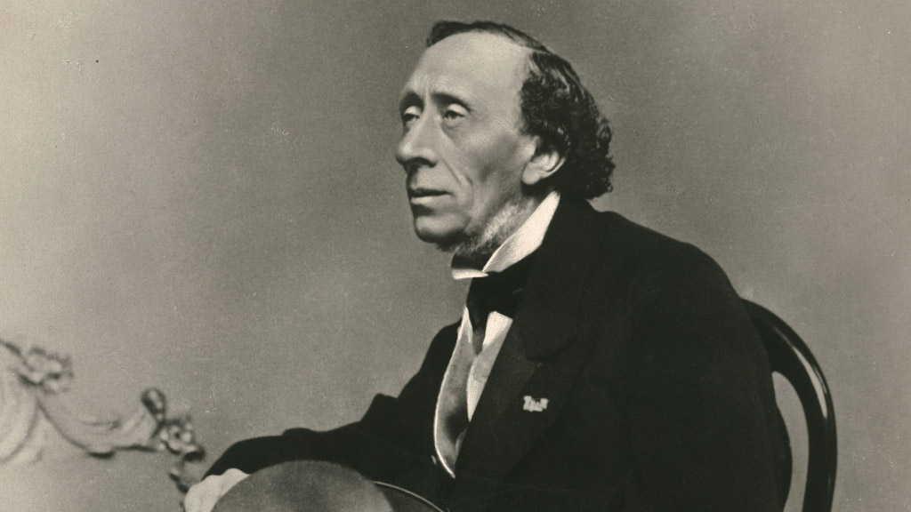 Danimarkalı masal yazarı Hans Christian Andersen. tarihte bugün