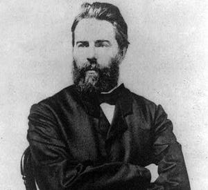 Herman Melville. Başyapıtı Moby Dick (1851) ile ünlü, deniz romanlarıyla tanınan Amerikalı kısa öykü yazarı. tarihte bugün