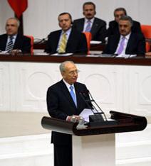 israil Cumhurbaşkanı, İlk kez bir Müslüman ülkenin parlamentosunda TBMM'de konuştu. tarihte bugün