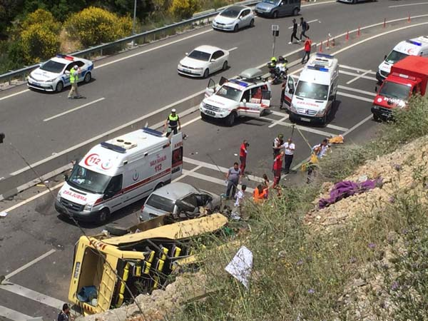 İzmir Muğla Marmaris Turu Trafik Kazası