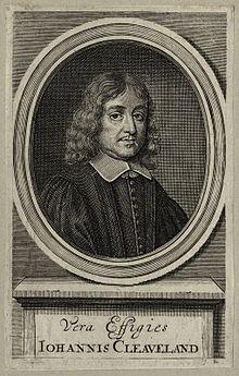 John Cleveland, ingiliz şair (ÖY-1658) tarihte bugün
