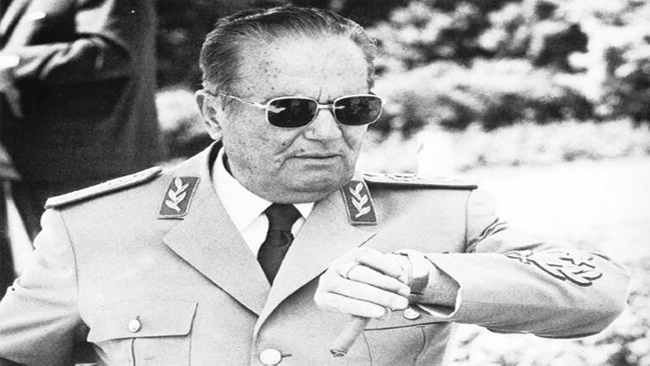 Yugoslavya Eski Devlet Başkanı Mareşal Josip Broz Tito.  tarihte bugün