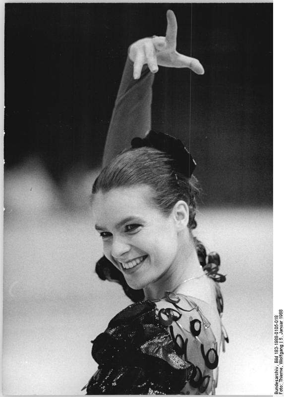 Katarina Witt, Alman buz patencisi tarihte bugün