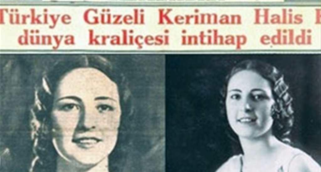 Türkiye Güzeli Keriman Halis Belçika'da Dünya Güzellik Kraliçesi seçildi. tarihte bugün