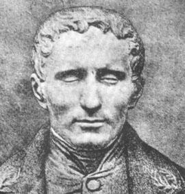 Louis Braille, körler alfabesini icat eden Fransız mucit (DY-1809) tarihte bugün